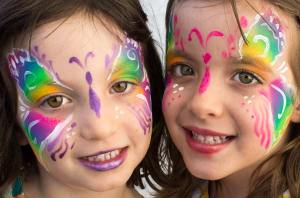 Butterfly Twins by Auntie Stacey's Face Painting, Sebastopol, CA
