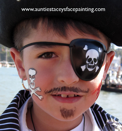 pirate boy by Auntie Stacey's Face Painting