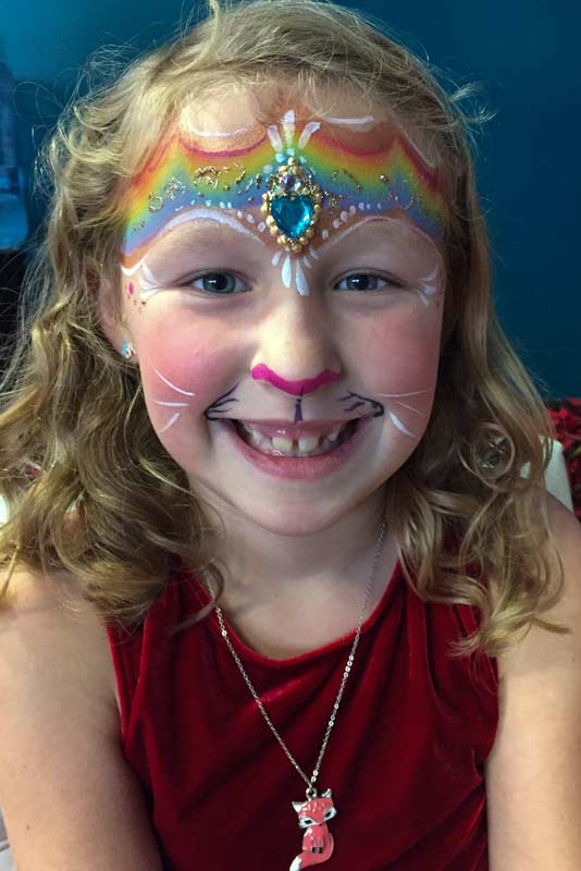 Princess Kitty by Auntie Stacey's Face Painting, balloon twisting, children's entertainment, party, kids, clown, fun, wine country face painter (415) 246-1227