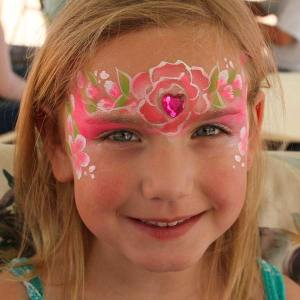 Rose heart mask by Auntie Stacey's face painting