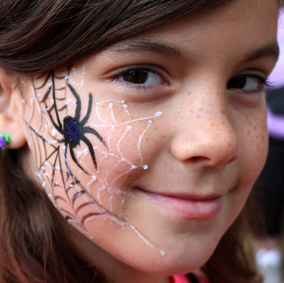 Spider Web Halloween Face Paint