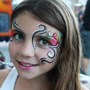 Tribal Eye face paint by Auntie Stacey, www.auntiestaceysfacepainting.com
