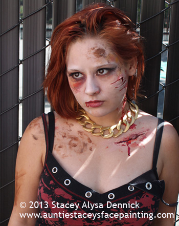 Glam Zombie by Auntie Stacey Dennick, face painter