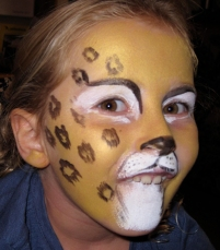 leopard face paint by Auntie Stacey