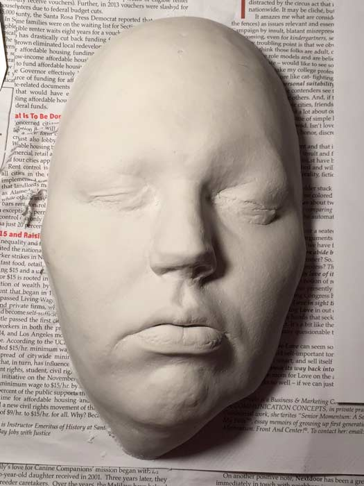 Life Cast before sealing , Auntie Stacey's Face Painting, Special effects makeup, www.auntiestaceysfacepainting.com