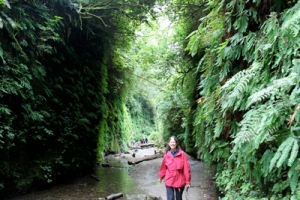 Auntie Stacey in Fern Canyon