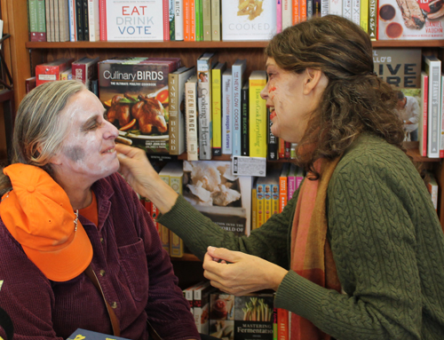 Auntie Stacey face painting zombies at Copperfield's Books, Sebastopol