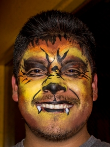 Werewolf Man by Auntie Stacey's face painting