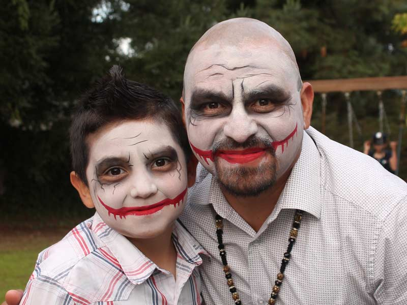 Two Jokers face paint by Auntie Stacey's Face Painting, Sonoma county, Santa Rosa, Sebastopol, Petaluma, wine country face painter, SF bay area face painter