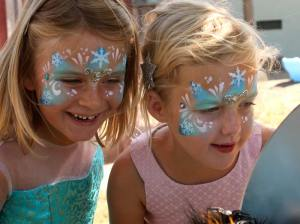 Frozen Princess face painting by Auntie Stacey, www.auntiestaceysfacepainting.com