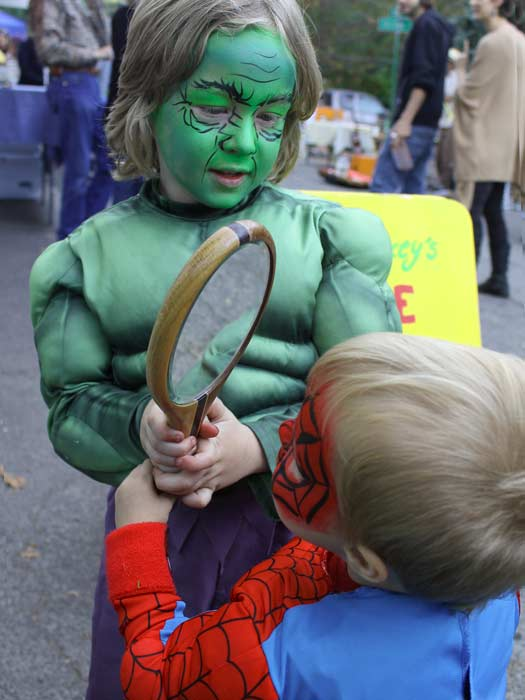 The Hulk and Spidey, face painting by Auntie Stacey, www.auntiestaceysfacepainting.com