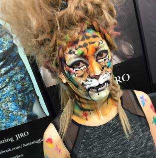 Face paint by the Amazing Jiro