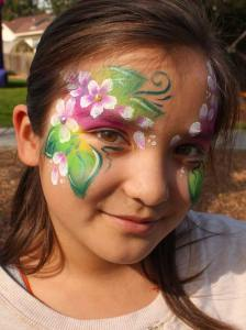 Flower fairy by Auntie Stacey's Face Painting, serving SF Bay Area