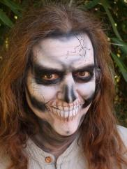 skull by Auntie Stacey's Face Painting, www.auntiestaceysfacepainting.com, kids, teens, adults, MUA, special effects