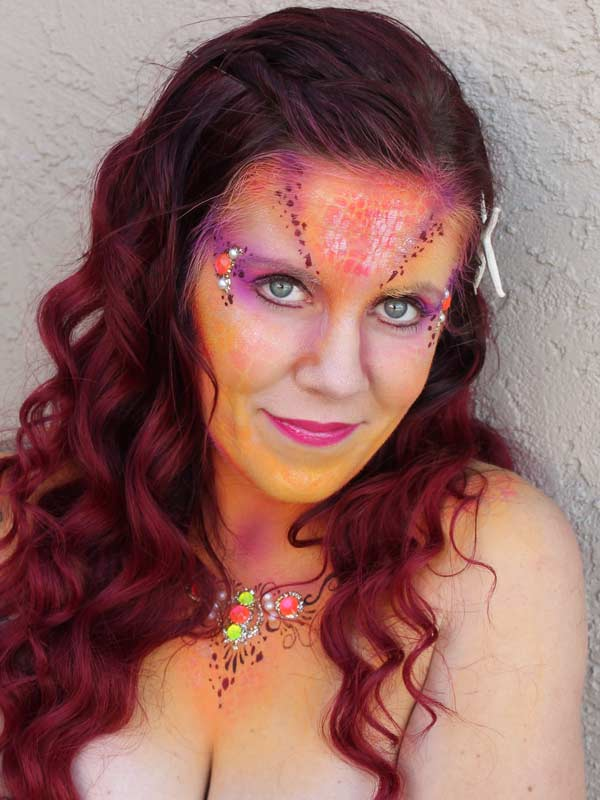 mermaid makeup face paint by Auntie Stacey Dennick, www.auntiestaceysfacepainting.com Fantasy makeup for the SF Bay Area