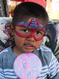 Captain America face paint by Auntie Stacey's face painting, (415) 246-1227