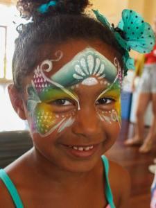 Mermaid face paint by Auntie Stacey's Face Painting, Sebastopol face painter, Santa Rosa, Petaluma, Sonoma, Healdsburg, Napa