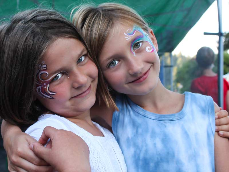 Eye designs Rainbow eye bling with gems by Auntie Stacey's Face Painting www.auntiestaceysfacepainting.com SF Bay area face painter Auntie Stacey Dennick Sebastopol Santa Rosa Best wine country face painter!