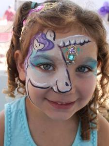 Rarity, My Little Pony face paint by Auntie Stacey's Face Painting best wine country face painter balloons games fun pintura de caras