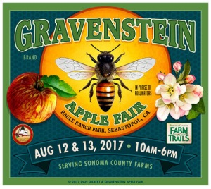 Gravenstein Apple Fair 2017 with face painting by Auntie Stacey