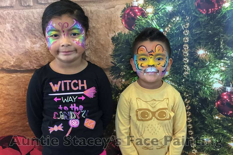 Auntie Stacey's Face Painting, balloon twisting, children's entertainment, party, kids, clown, fun, San Francisco Bay Area face painter