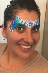 Flower Queen by Auntie Stacey's Face painting balloon twisting San Francisco bay area, Marin, Sonoma, Santa Rosa, San Rafael, children's entertainment