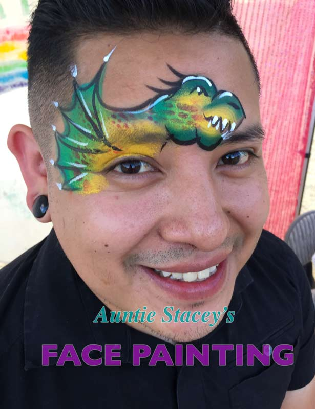 face paint by Auntie Stacey's Face Painting, Aunty Stacey, Aunt Stacy, Sonoma county, Santa Rosa, Petaluma, Sebastopol, Windsor, Kenwood, Wine Country, SF Bay area, balloons