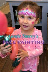 Princess crown face paint Auntie Stacey's Face Painting, Aunty Stacey, Princess face paint by Aunt Stacy, Sonoma county, Santa Rosa, Petaluma, Sebastopol, Cloverdale, Novato, Wine Country, SF Bay area, balloons