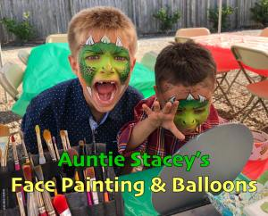 Two ferocious Dragons face paint by Auntie Stacey Face paint Auntie Stacey's Face Painting, Aunty Stacey, Princess face paint by Aunt Stacy, Sonoma county, Santa Rosa, Petaluma, Sebastopol, Cloverdale, Novato, Sebastopol, Guerneville, Wine Country, SF Bay area, balloons