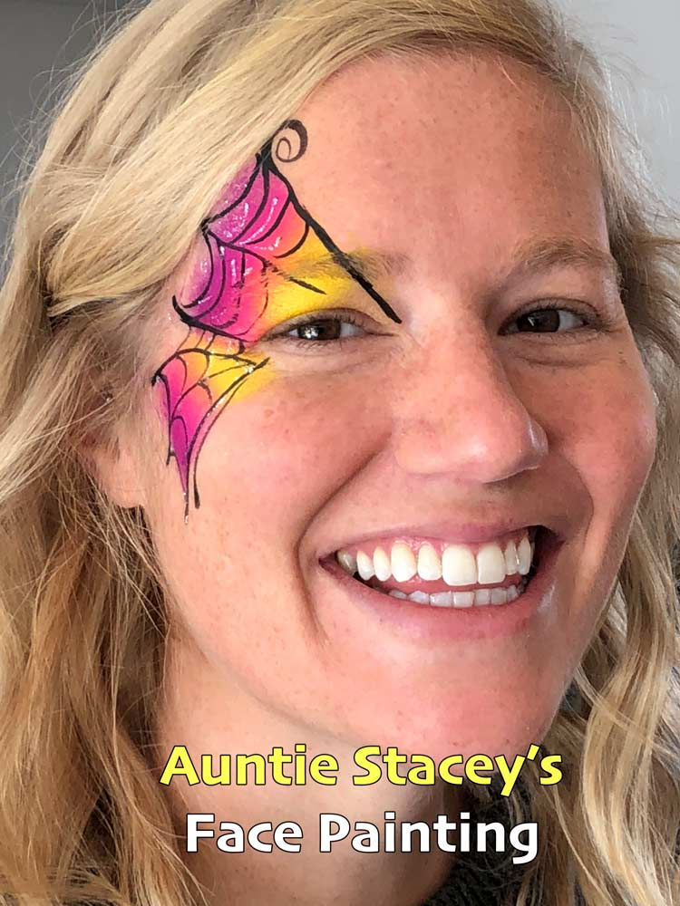 Face paint Auntie Stacey's Face Painting, Aunty Stacey, Halloween face paint by Aunt Stacy, Sonoma county, Santa Rosa, Petaluma, Sebastopol, Cloverdale, Novato, Sebastopol, Guerneville, Wine Country, SF Bay area, balloons