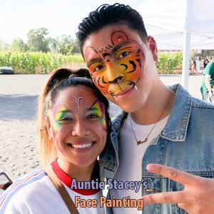 face paint by Auntie Stacey's Face Painting, Sebastopol, CA. Santa Rosa face painter, windsor face painter, Petaluma face painter, Novato face painter, Sonoma county face painter, wine country face painter