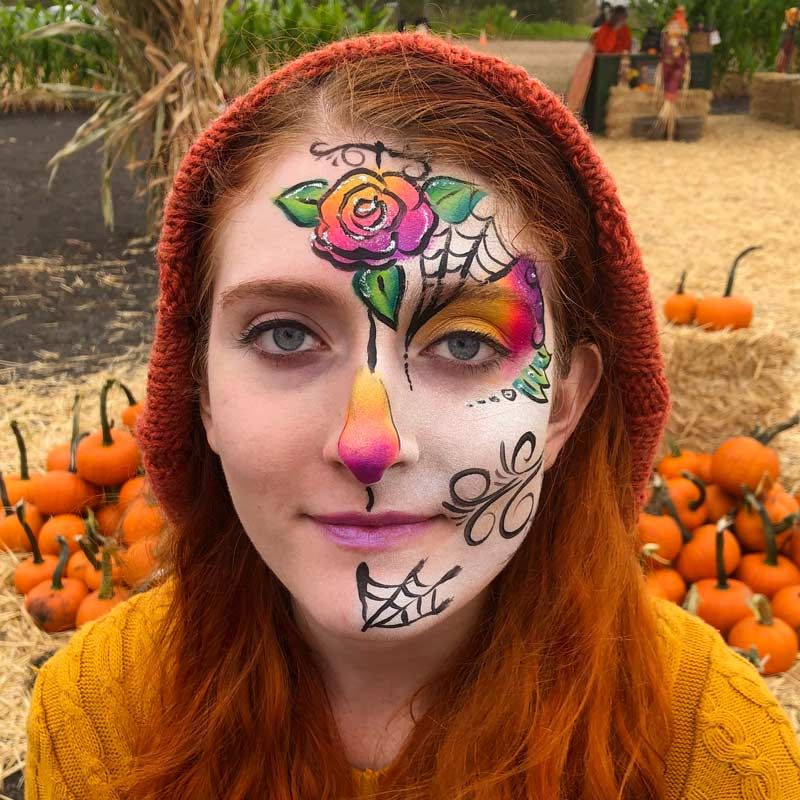 Sugar Skull by Auntie Stacey's Face Painting